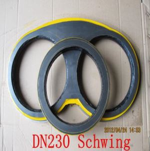 Schwing Carbide Best Quality DN180 DN200 DN230 DN250 Concrete Pump Spectacle Wear Plate and Cutting Ring Life About 30,000m3-40,000m3